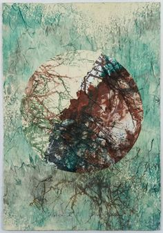 Diane Miller - intaglio & monotypes printed on japanese paper, collaged over artist-made paper, 'Haiku V'