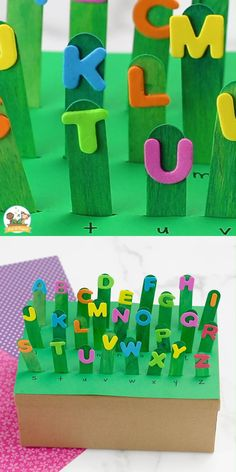 Preschool Letter Crafts, Alphabet Crafts, Letter A Crafts, Craft Letters, Alphabet Games, Spanish Alphabet, Letters For Kids, Alphabet For Kids, Classroom Crafts