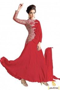#Red Unique #Gown Style #SalwarKameez, #PartyWearGown,  #Suit, #salwarsuits, #salwarkameez, #anarkalisuits, #anarkalisalwarsuits, #weddingdress, #bridaldress, #partywearsalwarsuits, #partyweardress, #westerndress  http://www.pavitraa.in/gown.html  Contact Us : +91-7698234040 (WhatsApp) Email _Id : info@pavitraa.in