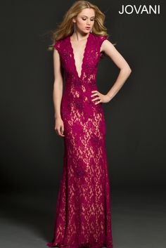 Embellished lace fitted dress 98841 - Evening Dresses