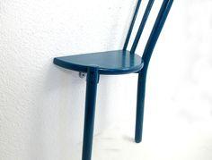 Stuhl holzstuhl mit sprossen weiss t rkis shabby shops for Stuhl upcycling