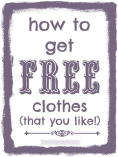 How to Get Free Clothes – Eat Pray {Read} Love how to get clothes (that you really like!) at eatprayreadlove How to Get Free Clothes – Eat Pray {Read} Love Stuff For Free, Free Stuff By Mail, Cheap Clothes, Free Clothes, Affordable Clothes, Free Sample Boxes, Free Coupons By Mail, Free Coupons Online, Free School Supplies