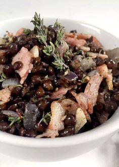 Warm Lentil Bacon Salad by Emma Eats & Explores - Grainfree, Glutenfree, Sugarfree, SCD, Low Carb, LCHF