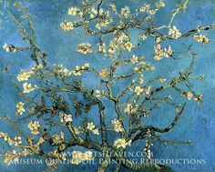 Blossoming Almond Tree by Vincent Van Gogh. Museum Quality Oil Painting Reproductions On Canvas.