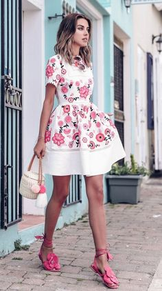 This dress would be so cute for a bridal shower or engagement party.