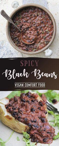 Spicy Black Beans by Trinity - gluten-free, vegan comfort food