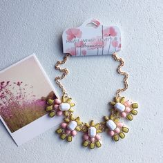 Lovely statement necklace Cute pink pastel necklace Haveitwearitloveit® Jewelry Necklaces