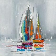 Sailboat Art, Sailboat Painting, Turkey Art, Seaside Art, Ship Paintings, Abstract Pictures, Impressionist Art, Simple Art, Mosaic Art