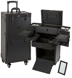 Seya Pro Makeup Artists and Hair Stylist Multiuse Cosmetics Train Case (Black) http://www.allbeautysecret.com/seya-pro-makeup-artists-and-hair-stylist-multiuse-cosmetics-train-case-black/