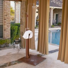 Rinse the day away alfresco in a luxurious outdoor shower. Poolside or beachside, a fresh-air shower is a soothing addition to your outdoor space.