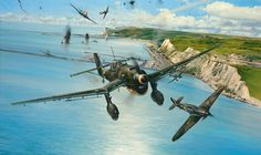 A squadron of Junkers Ju 87 crossed the Channel