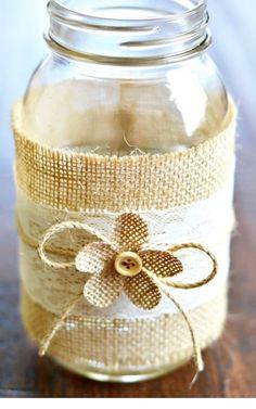 Cute Burlap Wrap with pretty Flower