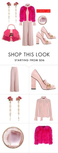 """CURE..THERE IS"" by myownflow ❤ liked on Polyvore featuring Zimmermann, Gucci, Les Néréides and Anya Sushko"