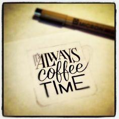 kahkei:    It's always #coffee time #qotd #quote #caffeine