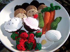 crocheted play food