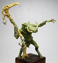 Warthog Sorcerer  Fimo/Sculpey Firm, Milliput, Metal.