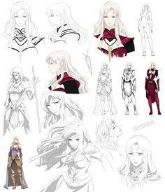 Fantasy woman design, Cassiea (commision) by Precia-T.deviantart.com on @deviantART