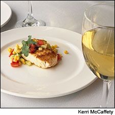 Dining Tip: Emeril Lagasse's Seared Halibut with Sweet Corn | Dining Tips | News & Features | Wine Spectator