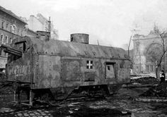 Infantry armoured wagon (from the former light Austro-Hungarian Panzerzüg WW I ), belonging to Hungarian armoured train , Budapest , 1945 Ww2 Pictures, Defence Force, Austro Hungarian, Ww2 Tanks, Military Equipment, Budapest Hungary, Panzer, World War Two, Cannon