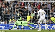 Neuer saves Ronaldo's penalty in the 2012 UCL semi-final penalty shootout.