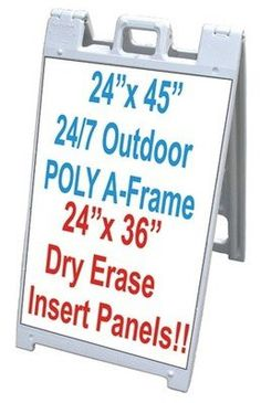 """Signicade A-Frame 24/7 24""""x45"""" Double Sided Sidewalk Sign W/White Dry Erase Panels"""