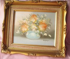 Shabby Chic Victorian Wall Decor Painting by happybdaytome on Etsy, $39.00