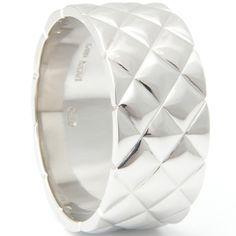 Textured Platinum Satin Finish Gents Ring. Form Bespoke Jewellers
