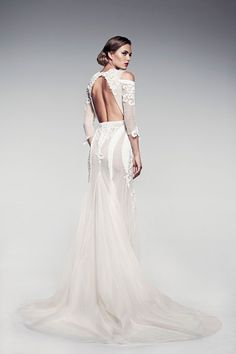 Voelle back view by Pallas Couture   via http://pallascouture.com