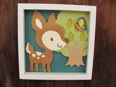Baby room, Nursery wall art, Decor Art for Kids, deer...blue