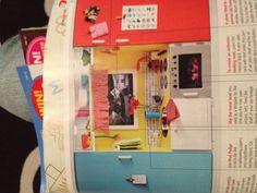 Entertainment unit transformed to a kids kitchen
