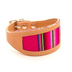 Pink Inca Greyhound / Whippet collar by Hiro and Wolf