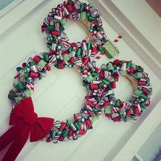 Mickey Christmas Wreath DIY