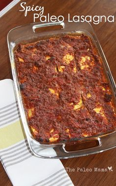 Spicy Paleo Lasagna from The Paleo Mama