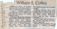 Coffey, Wm E 1980 Obituary