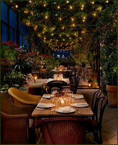 Want a meal where the ambiance is as beautiful as the food is great? Then come to restaurant atop the Gramercy Park Hotel