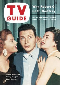 TV Guide,m January 22, 1954 - Jayne Meadows, Henry Morgan, Joan Bennett