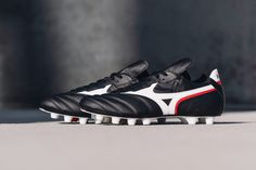 """Taking it all the way back. ↩️ Introducing the Mizuno Morelia Zero. — In celebration of the 35-year anniversary of the original Morelia """"Zero"""" prototype's debut in the '86 World Cup, @mizunofootballofficial brings a limited edition drop to honor their lasting tradition of hand-crafted leather excellence. — Tap to shop now from SOCCER.COM. — #soccerdotcom #mizunofootball #mizuno #morelia #soccer"""