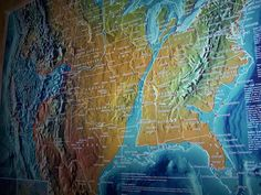 """This image purports to be a """"Leaked US Navy Map"""" showing a plan to divide America up with an artificial quake at the New Madrid Fault line using HAARP.  it's actually a map created by self-described """"psychic"""" Gordon-Michael Scallion, to describe the US after an event he predicted that would start in the 1990s and end in 2012."""