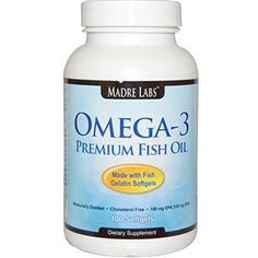 Madre Labs Omega-3 Premium Fish Oil Softgels 100 Ct. with EPA and DHA -- Click image to review more details.
