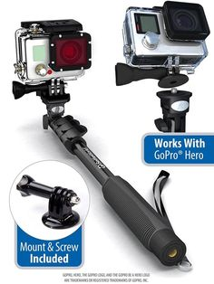 Professional Monopod / Selfie Stick For GoPro Hero, iPhone, Samsung Galaxy, Digital Cameras With Bluetooth Remote Shutter (Cellphones Only) Selfies, Accessoires Photo, Bluetooth Remote, Camera Equipment, Selfie Stick, Gopro Hero, Camera Photography, Outdoor Power Equipment, Shopping