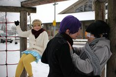 """""""Come on... - xUta(Uta / Kassim) Shu Tsukiyama, xKoe(xKoe) Ken Kaneki,  Hinami Fueguchi Cosplay Photo"""""""