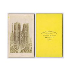 CDV Photograph Cathedral of St Michael St Gudula Brussels Carte de Visite | eBay