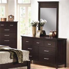 Kendra Transitional Mahogany Dressers And Mirrors