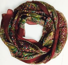Indian Silk stole with floral motifs, more vibrant colors and designs available  @ http://www.justscavz.com
