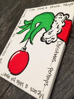 Grinch door sign  Maybe christmas he thought  by MelanieLupien