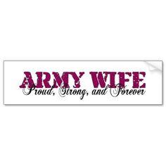 Army Wife Bumper Sticker from Zazzle.com