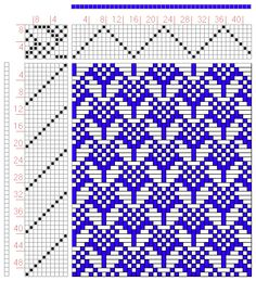 Hand Weaving Draft: Figure 0332, Atlas de 4000 Armures, Louis Serrure, 8S, 10T - Handweaving.net Hand Weaving and Draft Archive