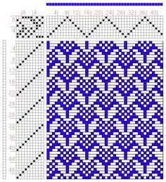 Hand Weaving Draft: Figure 0332, Atlas de 4000 Armures, Louis Serrure, 8S, 10T - Handweaving.net Hand Weaving and Draft Archive