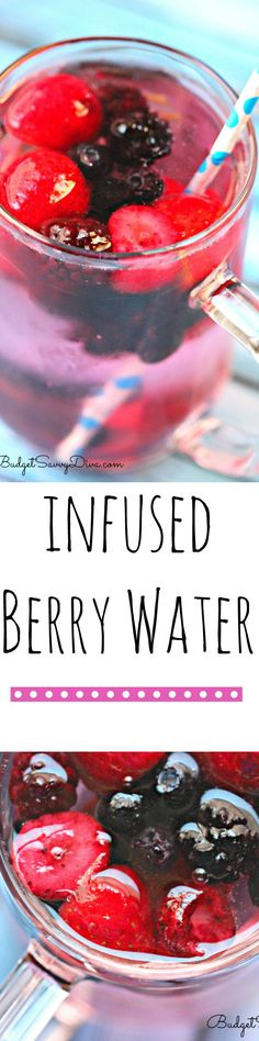 Summer Berry Water Recipe - what I am sipping on right now. Easy Infused Water Recipe.