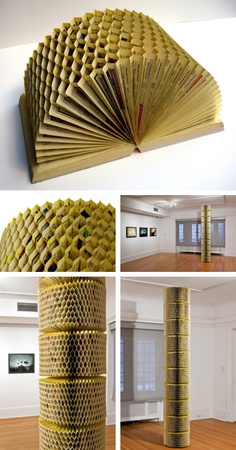 'Hive', Altered telephone books by Kristiina Lahde